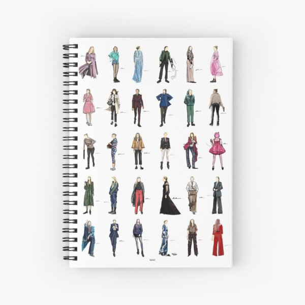 killing eve villanelle fashion looks version2 Spiral Notebook