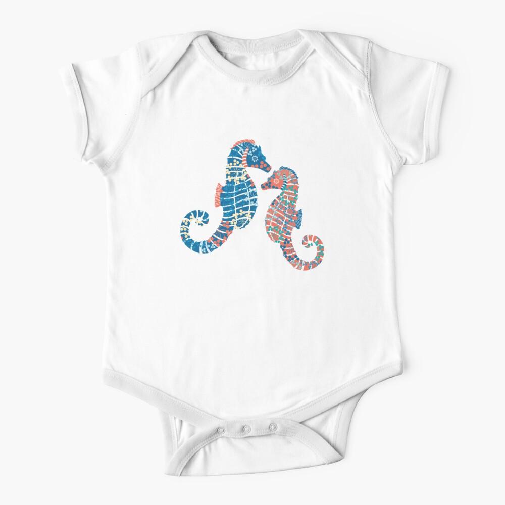 Seahorses Marine Coral Texture Baby One-Piece
