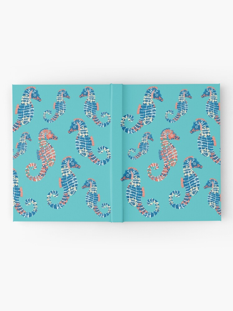 Alternate view of Seahorses Marine Coral Texture Hardcover Journal