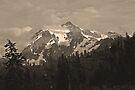 ski lift and mt shuksan, wa by dedmanshootn