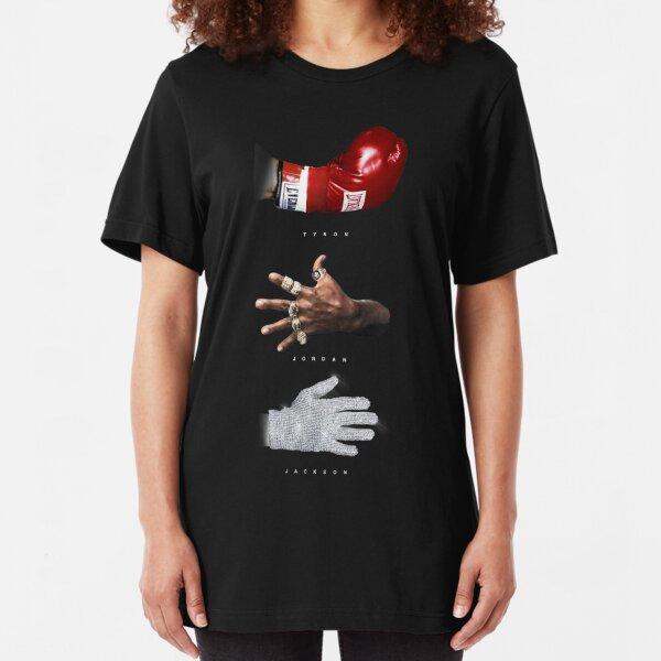 Tyson Jordan Jackson Tshirt Hoodie Gear Fan Art MJ Mike Tyson Michael Jordan Michael Jackson Slim Fit T-Shirt