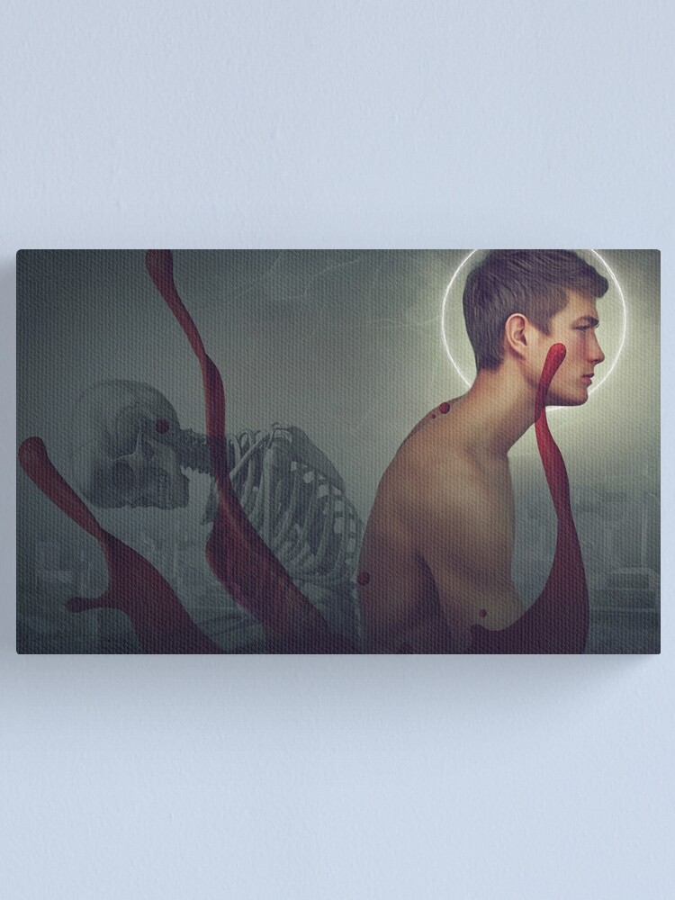 Alternate view of angel of death Canvas Print