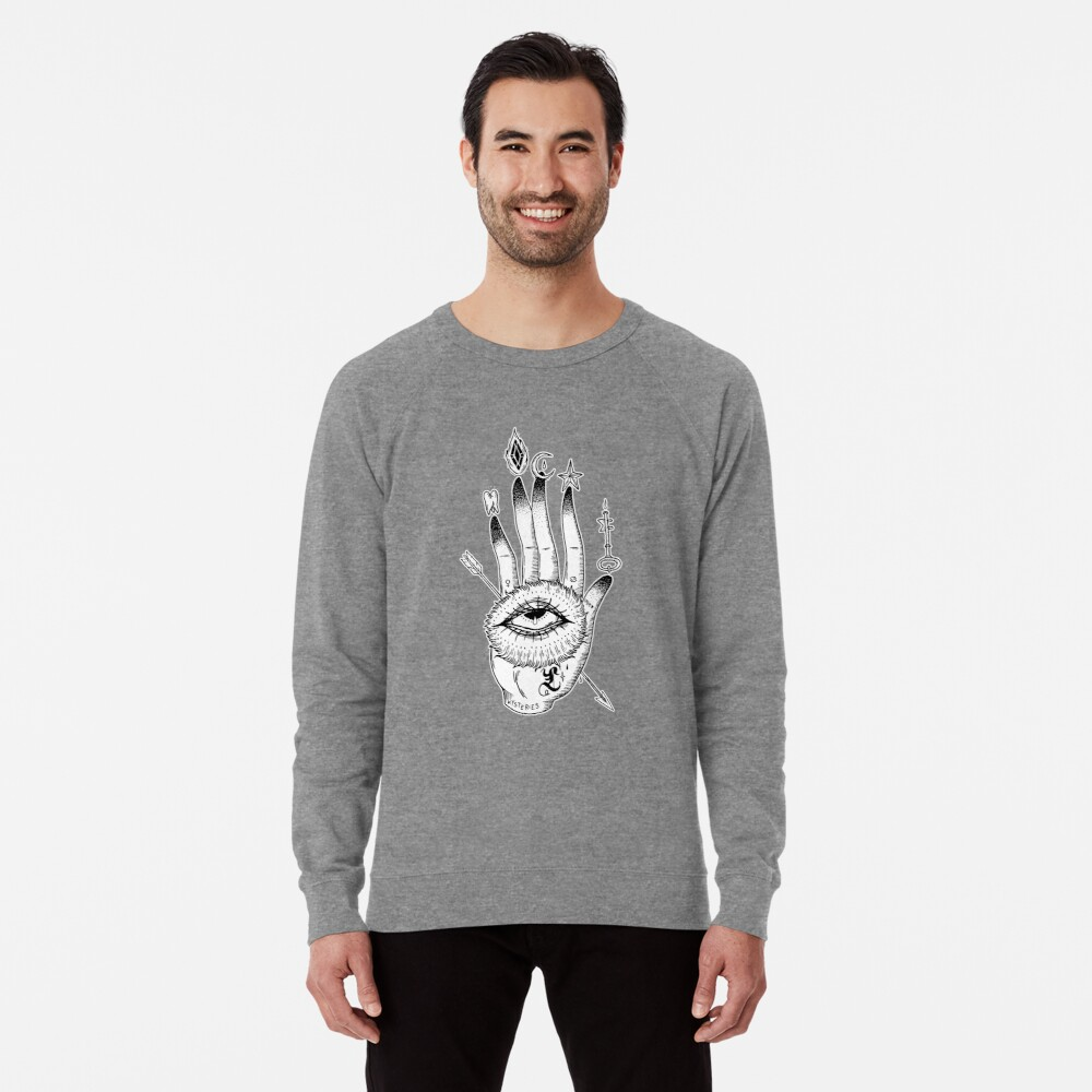 Hand of Mysteries  Lightweight Sweatshirt