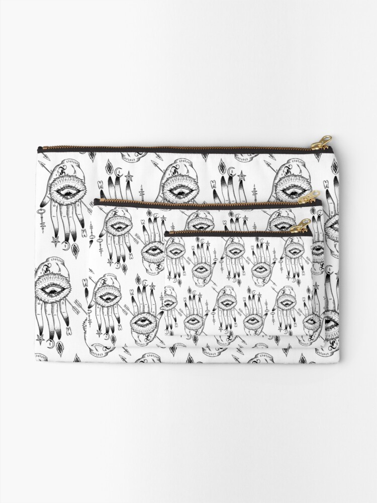 Alternate view of Hand of Mysteries  Zipper Pouch