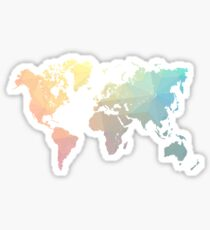 Geometric World Map Art Sticker
