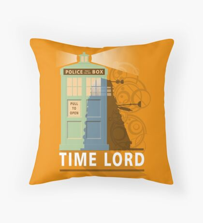 Time lord Throw Pillow