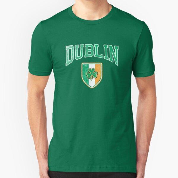 Dublin, Ireland with Shamrock Slim Fit T-Shirt