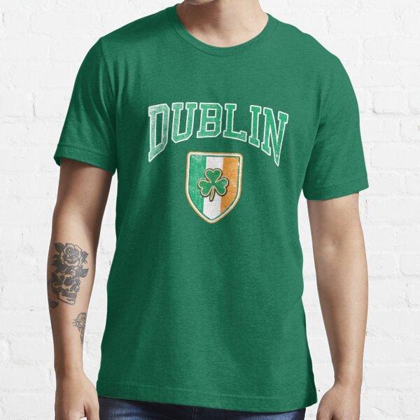 Dublin, Ireland with Shamrock Essential T-Shirt