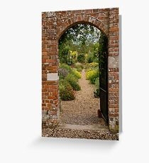 Walled garden Greeting Card