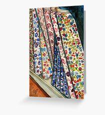Fabric Bolts at Liberty of London Greeting Card