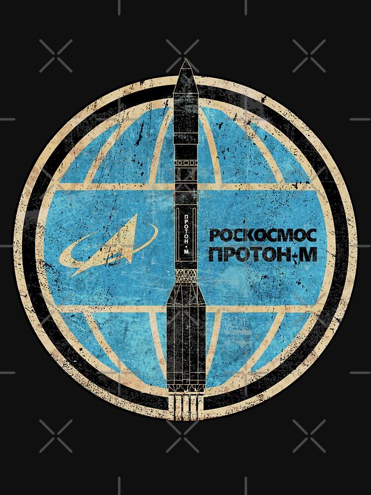 Proton-M Rocket Badge - Roscosmos by BGALAXY