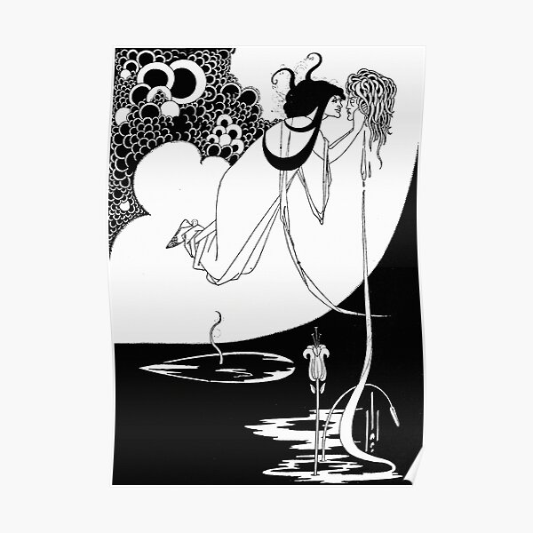 The Climax  - By Aubrey Beardsley - Vintage Art Nouveau Print Poster