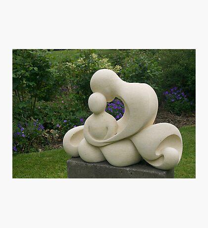 Mother and Child, garden sculpture, Flaxmere Garden, New Zealand Photographic Print