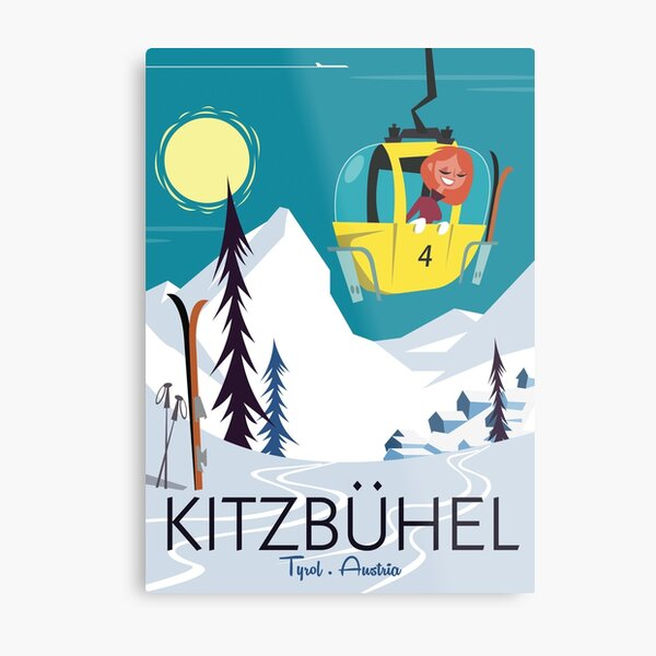 Kitzbuhel poster Metal Print