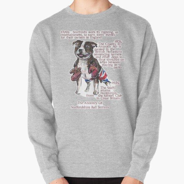 Staffordshire Bull Terrier History Pullover Sweatshirt