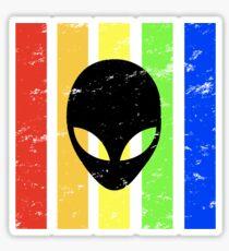 TrueColor-Alien-Black Sticker