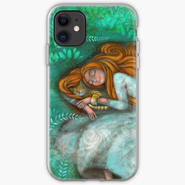 Sleeping with cat iPhone Soft Case