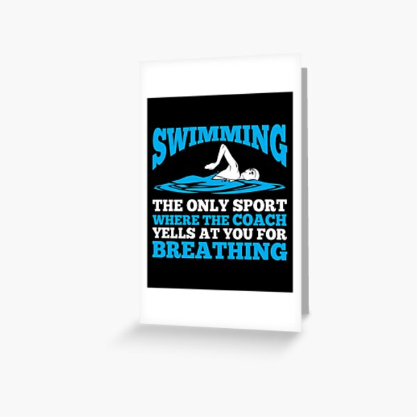 Funny Humour Joke Mum Birthday Card From The Fastest Swimmer