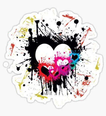 grunge love Sticker