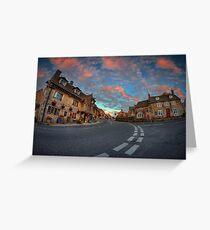 Corfe Castle Village ... Greeting Card
