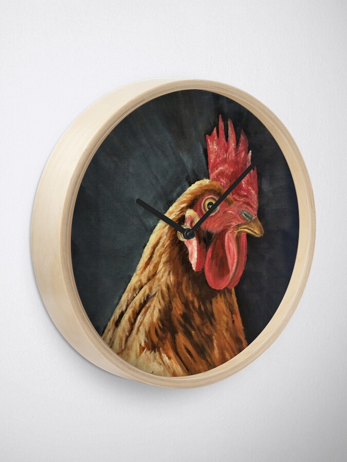 Alternate view of Little Red Hen - Clock Clock
