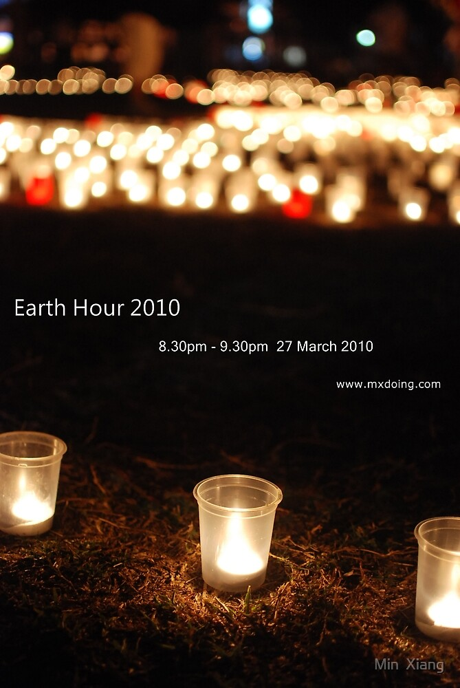 Earth Hour, Save our only one Earth by Min  Xiang