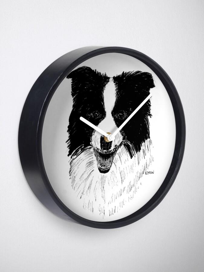 Alternate view of Border Collie - Clock Clock