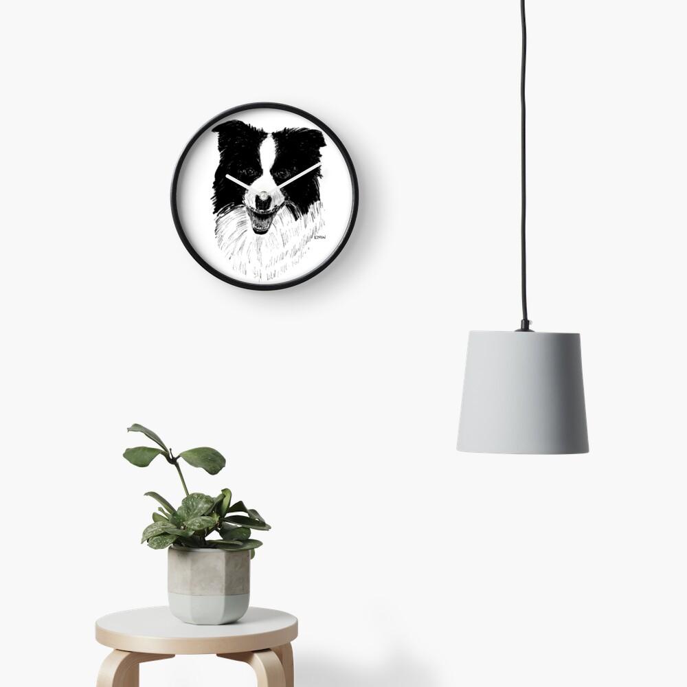 Border Collie - Clock Clock