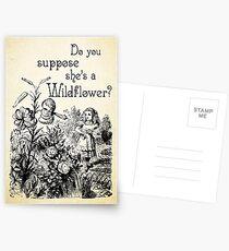 Alice im Wunderland-Zitat - Sie ist ein Wildflower - 0113 Postkarten