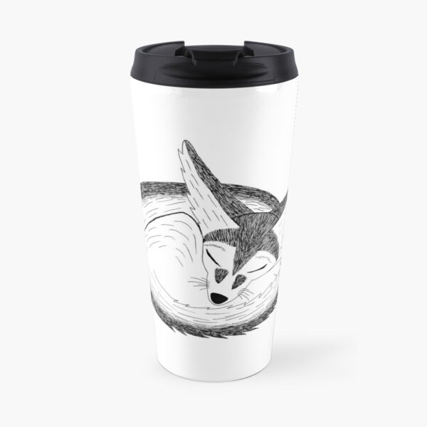 Fennec Fox (ink illustrations of weird animals that are real) Travel Mug