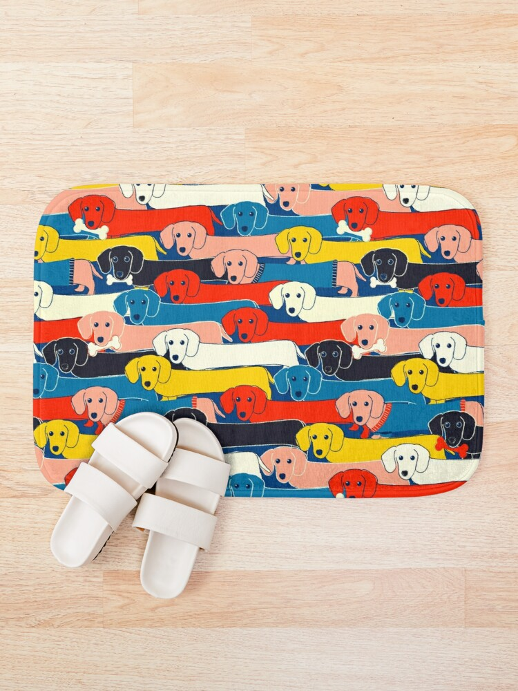 Alternate view of COLORED CUTE DOGS PATTERN 2 Bath Mat