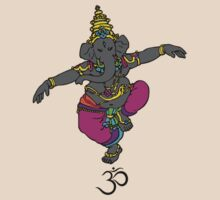 Dancing Ganesh with Om (Aum) Symbol