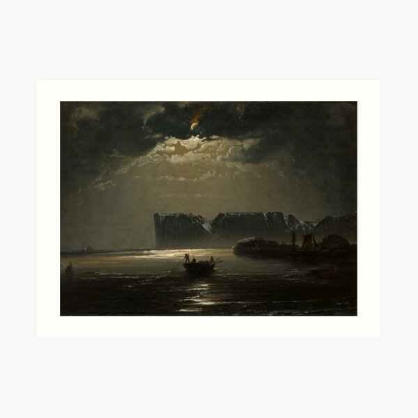 The North Cape by Moonlight by Peder Balke, ,1848  Art Print
