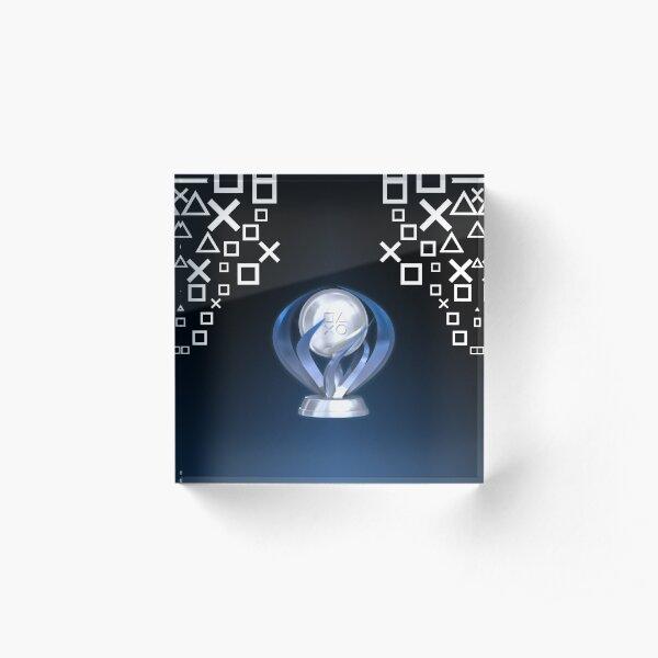 Platinum Trophy Acrylic Block