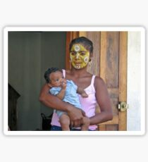 NOSY BE MADAGASCA MOTHER AND BABY BOY Sticker