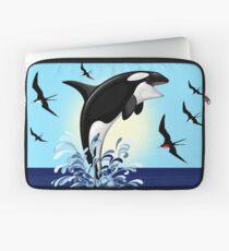 Orca Killer Whale jumping Laptop Sleeve