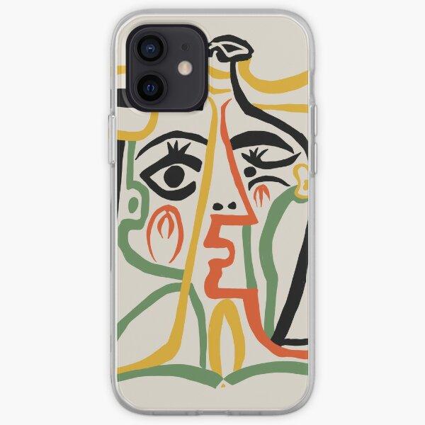Picasso - Tête de femme # 1 Coque souple iPhone