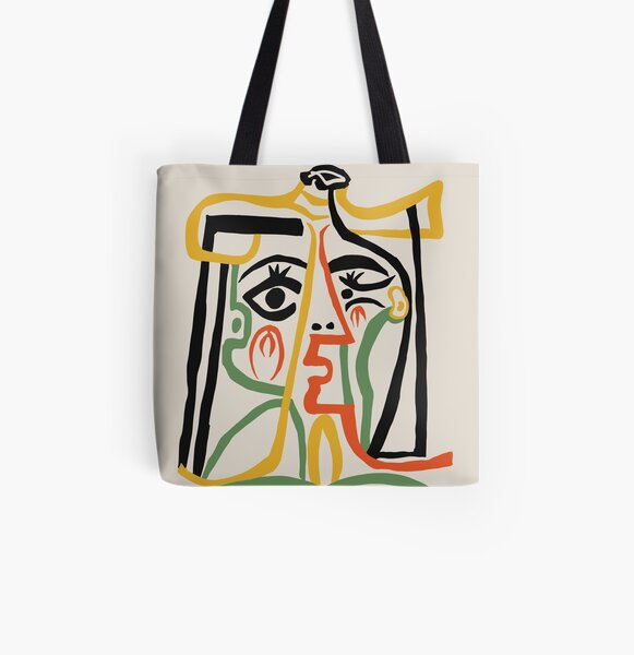 Picasso - Frauenkopf # 1 Allover-Print Tote Bag