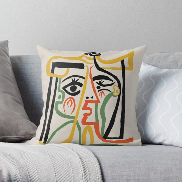 Picasso - Woman's head #1 Throw Pillow