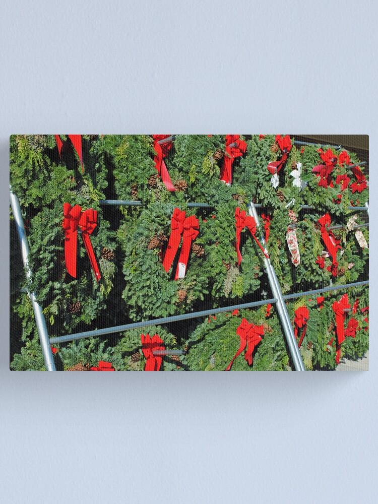 Alternate view of Wreath Market Canvas Print