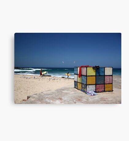 Surfing Fun at Maroubra Beach Canvas Print
