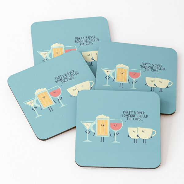 Party's Over Coasters (Set of 4)