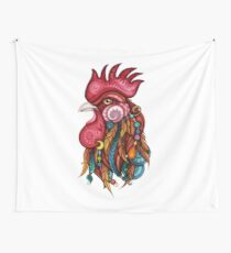 Tribal Rooster Design Tapestry