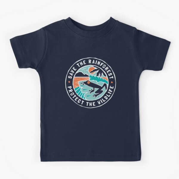 Save the Rainforest, Protect the Wildlife Kids T-Shirt