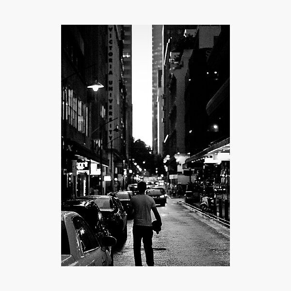 Lean Streets Photographic Print