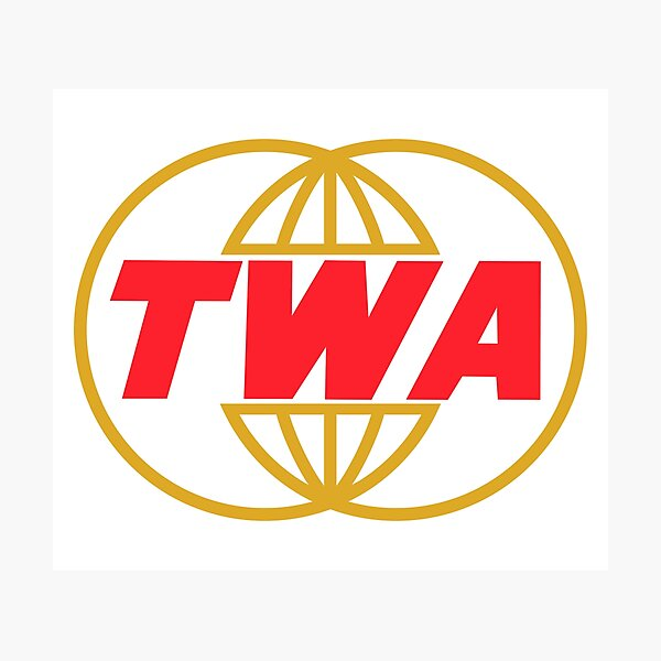TWA Airlines - Vintage Logo Photographic Print