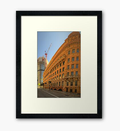 Around The Corner - Department of Education Building - The HDR Experience Framed Print