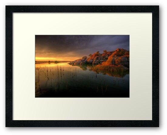Willow Rock Sunset by Bob Larson