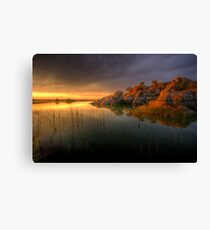 Willow Rock Sunset Canvas Print