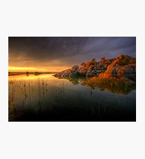 Willow Rock Sunset Photographic Print